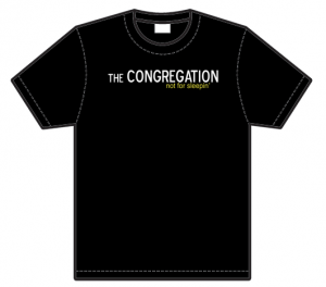 The Congregation T-Shirt (White on Black)